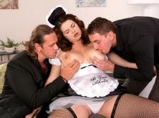 Tag-Team Shag For A French Maid