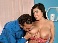 Daylene Rio: Large Tit Latin chick Shag Star