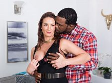 Ass-fucked by a large, black cock