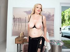 Lena's mammaries and wet crack show