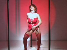 Katie's Triple-pole Undress Dance